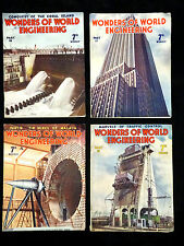 4 VINTAGE 1937 WONDERS OF WORLD ENGINEERING, PARTS; 16/17/18/19.
