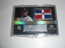 HANLEY RAMIREZ 07 UPPER DECK DR FLAG GAME USED JERSEY AUTO 7/10 SIGNED CARD
