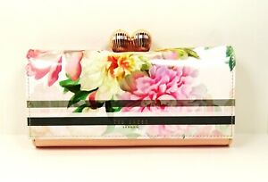 TED BAKER $159 Mandie Light Pink Painted Leather Bobble Matinee Wallet