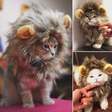 Lion Mane Wig Costumes For Cats Furry Pet Hat Costume Halloween Fancy Dress Up