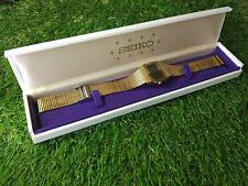 Seiko 70s Vintage digital F322-5000 golden men's for men watch + Box