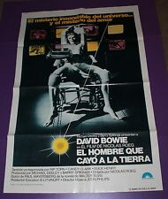 THE MAN WHO FELL TO EARTH MOVIE POSTER  SPANISH DAVID BOWIE