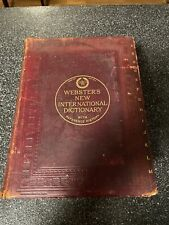 Webster's new international dictionary 1909 Leather RareCurtis Mitchell Library