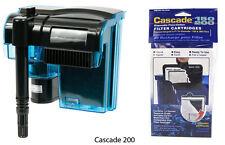 CASCADE 200 AQUARIUM POWER FILTER PACKAGE. $49.99 VALUE.
