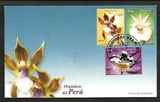 PERU YVERT 1364/6  FLOWERS FDC, NICE