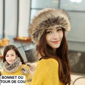 BONNET ou TOUR DE COU éCHARPE FOURRURE RENARD TEENAGER TEEN CAP FOX FUR WOMAN