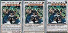 YUGIOH 3 X  THOR, LORD OF THE AESIR - LEHD-ENB30 LEGENDARY HERO DECKS 1ST EDITIO