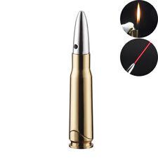 Bullet Lighter with Red Laser Refillable Flame Butane Cigarette Lighters Gold