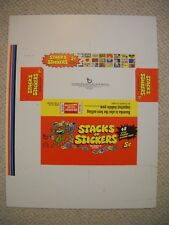 1970 STACKS OF STICKERS DISPLAY PACK BOX ON SHEET w/COA TOPPS  *ONLY BOX KNOWN*