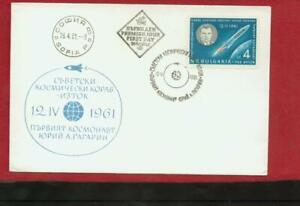 RARE Post Stamped Used Cover 1961. The First Space ASTRONAUT GAGARIN .RARE