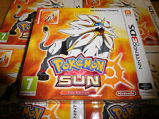 Pokemon Sun Steelbook edición del ventilador para Nintendo 3DS PAL región Totalmente Nuevo