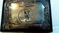 1935-36 Great Britain Army Air Forces Association Boxing Champion medal plaque