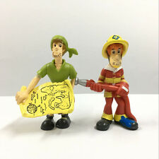 2PCS Scooby Doo Pirate Shaggy Fireman in the Pirate Fort Mega Set figure Boy Toy