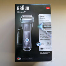 BRAUN Series 7 GREY 7865cc Mens Electric Foil Shaver Wet & Dry,Clean+Charge Neu