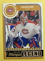 2014-15 O-Pee-Chee Matquee Legend #590 Patrick Roy Montreal Canadiens Insert