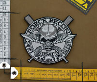 """Ricamata / Embroidered Patch USMC """"Force Recon"""" with VELCRO® brand hook"""