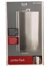 New listing Buxton 60 oz Jumbo Brushed Stainless Steel Flask - Gag Gift