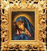 17th Century Italian School Old Master Madonna Icon Renaissance Oil Painting