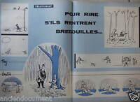 DESSIN HUMORISTIQUE 1958 CHANSON ET TREZ POUR RIRE S'ILS RENTRENT BREDOUILLE