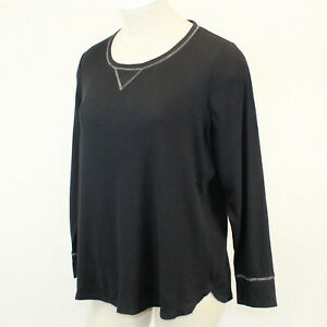 Cacique by Lane Bryant Plus Black Soft Cozy Thermal Lounge Pajama Top Size 18/20