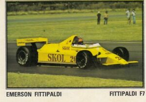 sticker Emerson Fittipaldi Skol team FORMULA 1 F1 Grand prix Panini Yugoslavia