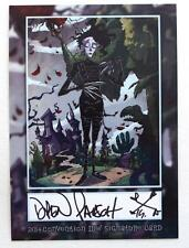 New Edward Scissorhands Exclusive Idw Signature Card Signed Artist Drew Rausch