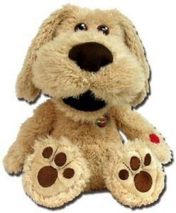 KIDS 8'' Talking Ben Dog Plush Cuddle Squeeze Toy With Funny Voices BEST GIFT