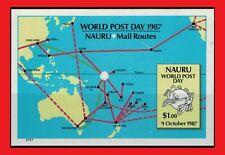 ZAYIX - 1987 Nauru 339 MNH - World Post Day / Universal Postal Union SS