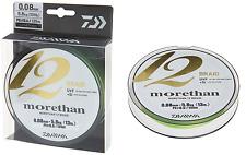 Daiwa Morethan 12 Braid 0,10mm 7,3kg 300m lime green Geflochtene Schnur