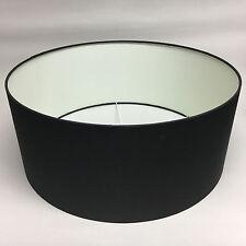 Light & Living Lampenschirm POLYCOTTON zylinder schwarz 50x50x21cm 2247678