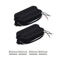 Set of Black Alnico 5 HH Electric Guitar Humbucker Pickups Neck & Bridge Pickups