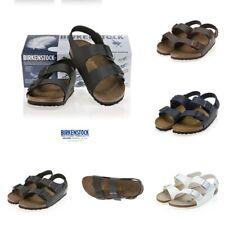 BIRKENSTOCK MILANO Slide Slip Beach Sandals Flip Flop Black White Grey SZ 5-12