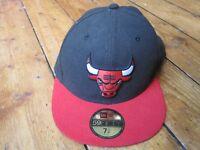 Chicago Bulls New Era 59Fifty Baseball Cap Black Size 7 1/4 57.7cm Black NBA
