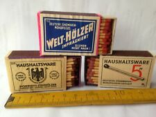 Welthölzer,2x Haushaltware,3 alte Streichholzschachteln,Zündhölzer,orig.Füllung