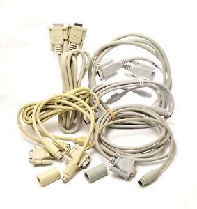 Vintage early Macintosh computer cables. 7 cables plus 2 connectors.