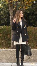 Zara Nautical Double Breasted Coat Size L Ref 7901 237