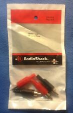 RCA PHONO PLUGS 4 Pack Radio Shack Solder Type Connector #274-0319 FREE SHIPPING