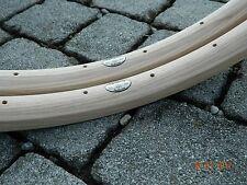 CB ITALIA pair (#2 rims) VIAGGIO vintage wooden rims for clincher tires