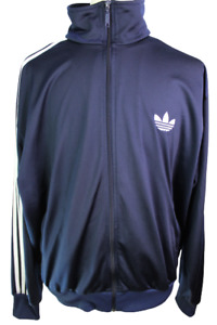 Adidas Men's Size XXL 2XL Blue Full Zip Vintage Long Sleeve Track jacket