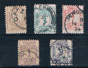 Palestine Treasure SG D1-5 1st Postage Due USED 1923