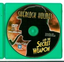 SHERLOCK HOLMES AND THE SECRET WEAPON, rare US Basil Rathbone movie DVD