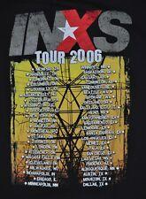 T-SHIRT L LARGE INXS ROCK BAND 2006 TOUR SHIRT