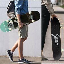 31''x 8'' PANDA Complete Skateboard Double Kick Deck Concave W/ White Wheels US