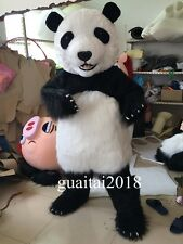 100% Real Pictures Huge Panda Mascot Soft Plush Panda Cartoon Costume Adult Size