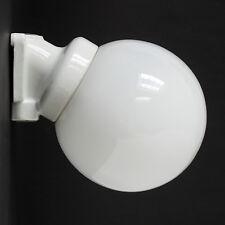 PORZELLAN SOCKEL LAMPE FABRIK BAUHAUS GLAS KUGEL WAND LEUCHTE ANTIK VINTAGE