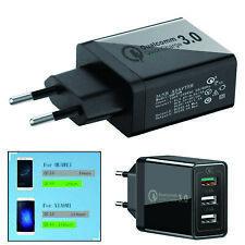 QC 3.0 Quick Charge Adapter 3 Ports USB Home Wand Charger Ladegeraet 30W EU Plug