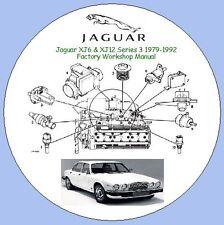 JAGUAR XJ6 & XJ12 SERIES 3 1979-1992 FACTORY WORKSHOP MANUAL