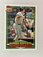 Kevin Maas New York Yankees Record Breaker 1991 Topps Baseball Card Number 4
