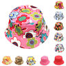 FT- Girls Kids Baby Summer Toddler Outdoor Floral Bucket Hat Canvas Sun Cap Nove