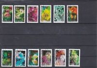 FRANCE 2019 FLORE  ECLOSION  SERIE COMPLETE DE 12 TIMBRES AUTOADHESIFS OBLITERES